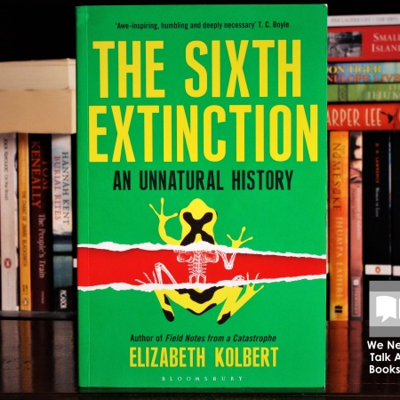 Cover image of The Sixth Extinction by Elizabeth Kolbert